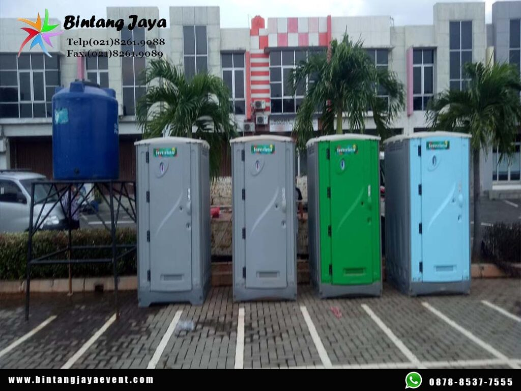 Sewa Toilet Portable Fullset Pasang dan Bongkar Gratis Event Resinda Karawang